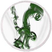 Smoke 01 - Green Round Beach Towel