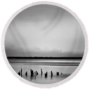 Smoke On The Water Round Beach Towel by Wallaroo Images