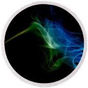 Round Beach Towel featuring the photograph smoke VI by Joerg Lingnau