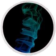 smoke XIX ex Round Beach Towel by Joerg Lingnau