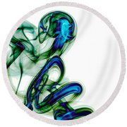 Round Beach Towel featuring the photograph smoke XL by Joerg Lingnau