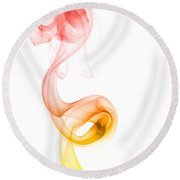 Round Beach Towel featuring the photograph smoke XX by Joerg Lingnau