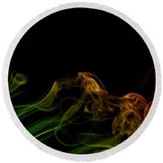 Round Beach Towel featuring the photograph smoke XXXI by Joerg Lingnau