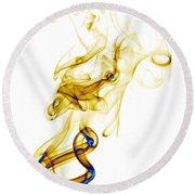 smoke XXXIX Round Beach Towel by Joerg Lingnau