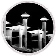Smokestacks Phu Bai, Rvn Round Beach Towel