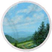 Smokey Mountains Calling Me Round Beach Towel by Kathleen McDermott