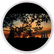 Smoked Filled Sunset Round Beach Towel by Janice Westerberg