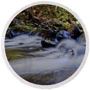 Round Beach Towel featuring the photograph Smoky Mountain Stream by Douglas Stucky