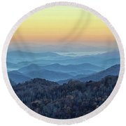 Smoky Mountains Round Beach Towel by Nancy Landry