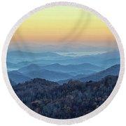 Smoky Mountains Round Beach Towel