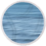 Smooth Blue Abstract Round Beach Towel by Terry DeLuco