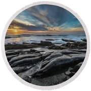Smooth Rocks Round Beach Towel