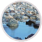 Smooth Rocks Round Beach Towel