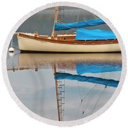 Round Beach Towel featuring the photograph Smooth Sailing by Werner Padarin