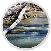 Smooth Water Round Beach Towel