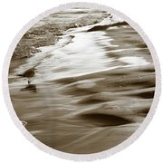 Round Beach Towel featuring the photograph Smooth Waves by Marilyn Hunt