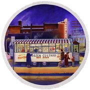 Snack Wagon Round Beach Towel