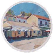 Snackbar Europe Loggos Round Beach Towel