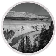 Snake River View Round Beach Towel