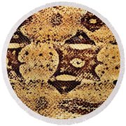 Round Beach Towel featuring the photograph Snake Skin II by Kathy Baccari