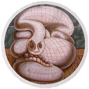 Snake Round Beach Towel