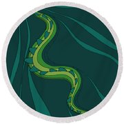 snakEVOLUTION I Round Beach Towel