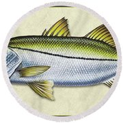 Snook Id Round Beach Towel