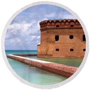 Snorkelers Fort Jefferson Round Beach Towel