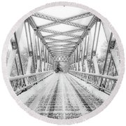 Round Beach Towel featuring the photograph Snow Angles by Kendall McKernon