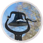 Snow Covered Bell Round Beach Towel