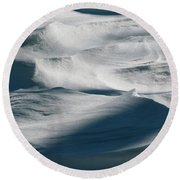 Snow Drift Round Beach Towel