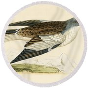 Snow Finch Round Beach Towel