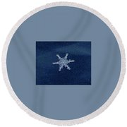 Snow Flake  Round Beach Towel