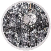 Round Beach Towel featuring the photograph Snow Flake by Ulrich Schade