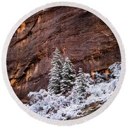 Snow Globe Round Beach Towel by Dustin LeFevre