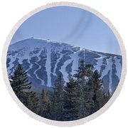 Snow On The Loaf Round Beach Towel