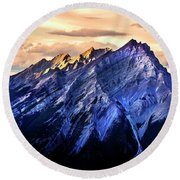 Round Beach Towel featuring the photograph Mount Cascade by John Poon