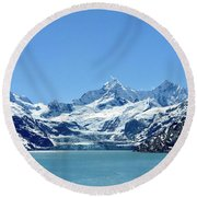 Snow Slide Round Beach Towel