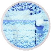 Snow Van 51 Chevy Panel Round Beach Towel