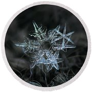 Round Beach Towel featuring the photograph Snowflake Of 19 March 2013 by Alexey Kljatov