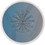 Snowflake Photo - Wheel Of Time Round Beach Towel