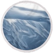 Snowy Days Round Beach Towel