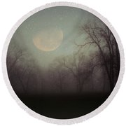 Moonlit Dreams Round Beach Towel by Inspired Arts