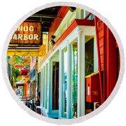 Snug Harbor Jazz Bistro- Nola Round Beach Towel