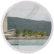 So Ocho Round Beach Towel