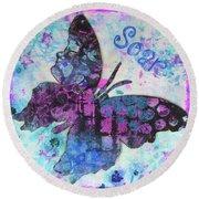 Soar Butterfly Round Beach Towel