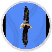 Soar Into The Blue II Round Beach Towel