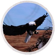 Soar Round Beach Towel