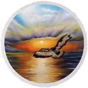 Soaring High Round Beach Towel