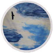 Soaring   Round Beach Towel by Lisa Rose Musselwhite